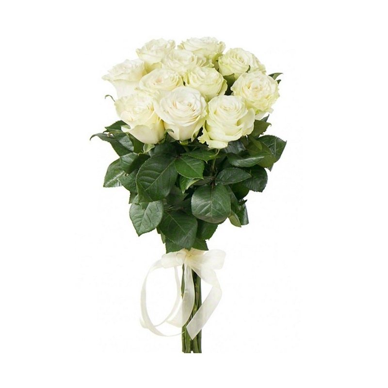 White Bouquet 11 Roses